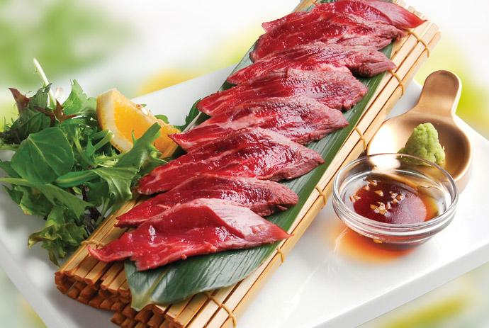 Beef sashimi 10pcs for Sashimi dressing